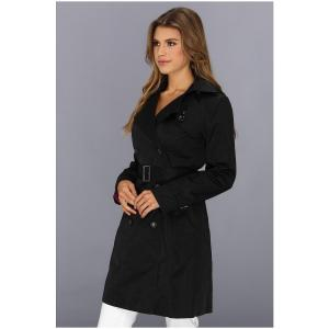 420-Cole-Haan-Women-s-Double-Breasted-Trench-Coat-Classic-Fit-Faux-Horn-Buttons-Buckles-2